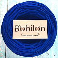 Пряжа трикотажная Бобилон 5-7 мм, цвет синий электро