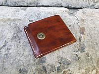 Мини-кошелек, натуральная кожа, ручная работа.