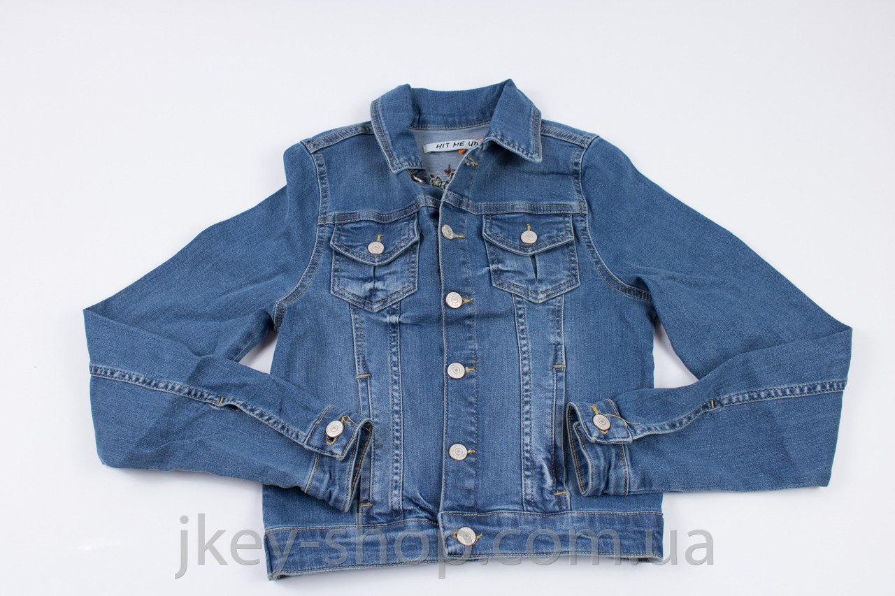 Куртка джинс. женская HIT ME UP HMU 4100 D BLUE