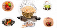 Складная решетка для фри, макарон, пароварка Magic Kitchen