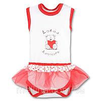 Боди - платье для новорожденной девочки. Размеры 62 см (рост)