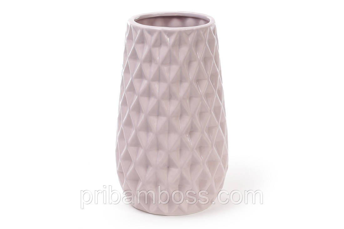 Ваза керамическая 23см, цвет - песочно розовый