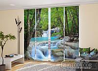 """Японские фотошторы """"Лесной водопад"""" 2,40*2,40 (4 панели по 60см)"""