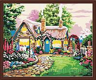 Картина по номерам  40 х 50 см  Сказочный домик