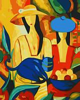 Картина-раскраска  40 х 50 см  Две дамы в шляпках