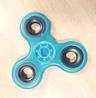 Спиннер с прозрачный  с метал вставками Fidget Toy, Hand spinner, finger spinner, Вертушка, Хендспиннер фиджет синий