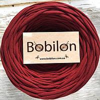Пряжа трикотажная Бобилон 5-7 мм, цвет бордо