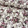 Ткань декоративная с тефлоновой пропиткой с букетами фиолетовых цветов