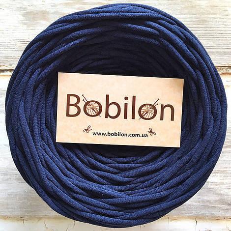 Пряжа для ковров Бобилон 5-7 мм, цвет синий сапфир