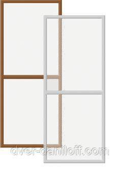 Москитная сетка на окна с полкой 1400*650, фото 2