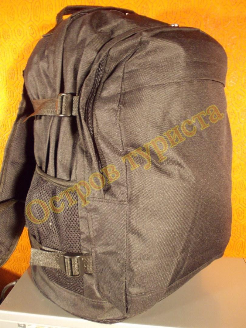 Рюкзак спортивный городской черный 40 литров регулируемый объем, фото 1