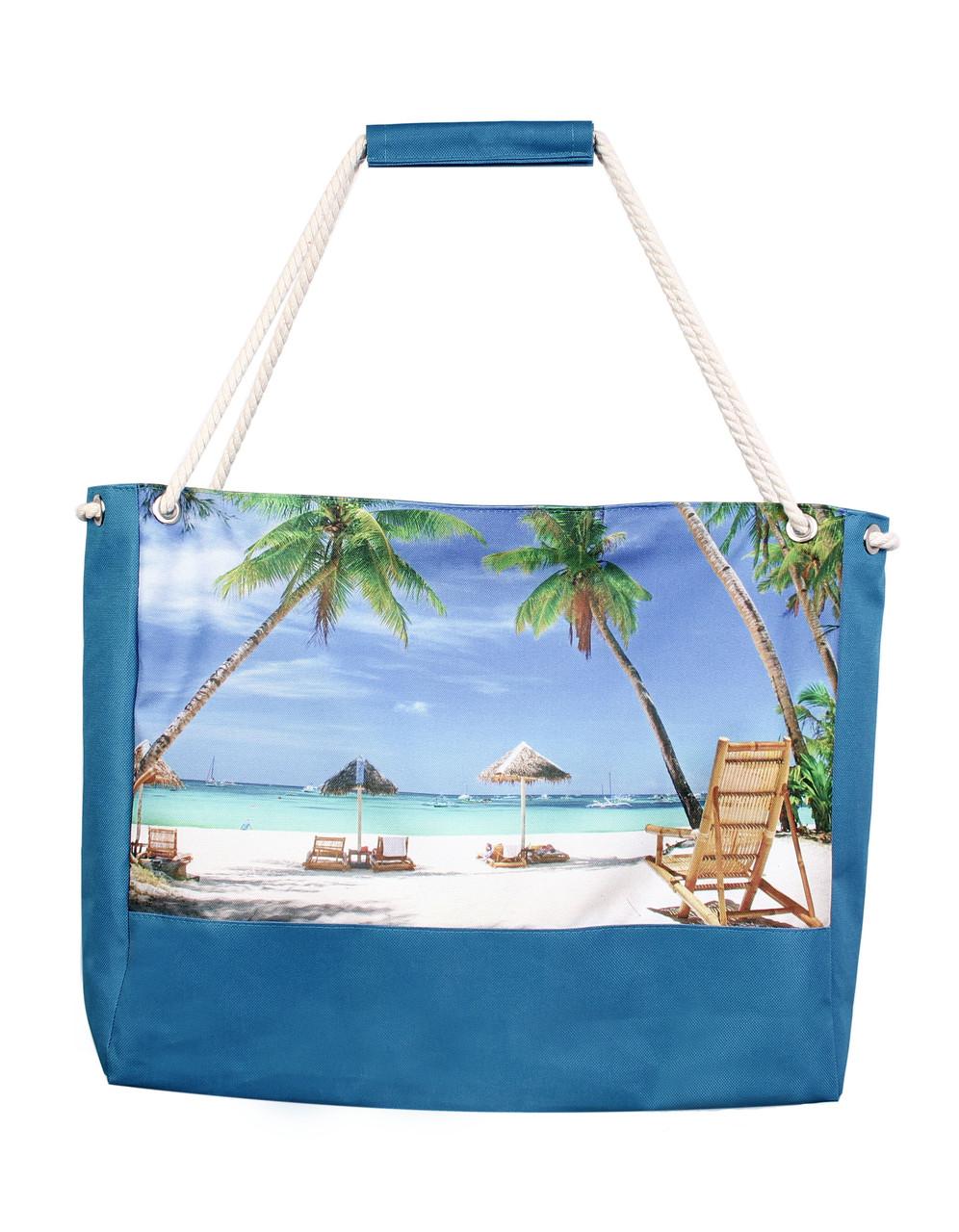 Пляжная сумка с пальмами.
