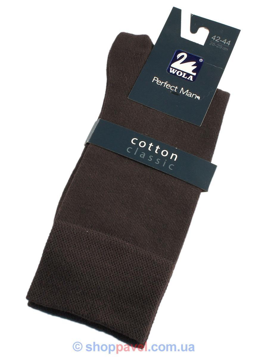 Классические мужские носки Wola 032 цвет коричневый