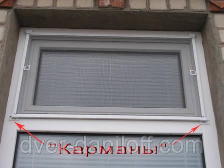 Москитная сетка на окна наружная с карманами, фото 2