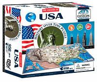 Объемный пазл Соединенные Штаты Америки, 950 элементов, 4D Cityscape (40008)