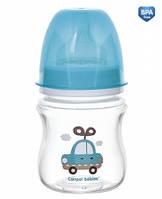 Пляшка з широким отвором антиколікова Easystart - Toys 120 мл, бирюза (35/220-1)