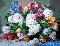 Картина по номерам  40 х 50 см  Пионы и ирисы худ, Копани Збигнев