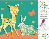 Художественный комплект пальчиковые краски Парад цветов DJECO (DJ09686)