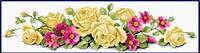 Рисование камнями (85 х 22 см) 'Желтые розы'