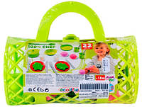 Набор посуды в сумке (салатовый), Ecoiffier, салат (000982-2)