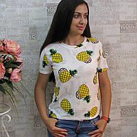 """Модная женская футболка, РОСТОВКА от 40 до 46 р/ра. Футболки  с модным эффектом """"рванки"""""""