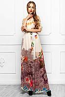 Сарафан Платье Длинное Шифоновое с Летним Красивым Принтом_5 р. S M L XL