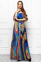 Сарафан Платье Длинное Шифоновое с Летним Красивым Принтом_4 р. S M L XL