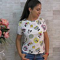 """Модная женская футболка, РОСТОВКА от 40 до 50 р/ра. Футболки  с модным эффектом """"рванки"""""""
