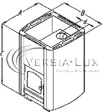 Печь каменка для сауны Heat-20 без выноса на дровах, фото 2