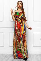 Сарафан Платье Длинное Шифоновое с Летним Красивым Принтом_2 р. S M L XL