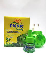 Универсальный электрофумигатор + жидкость от комаров с растительными экстрактами PICNIC Family
