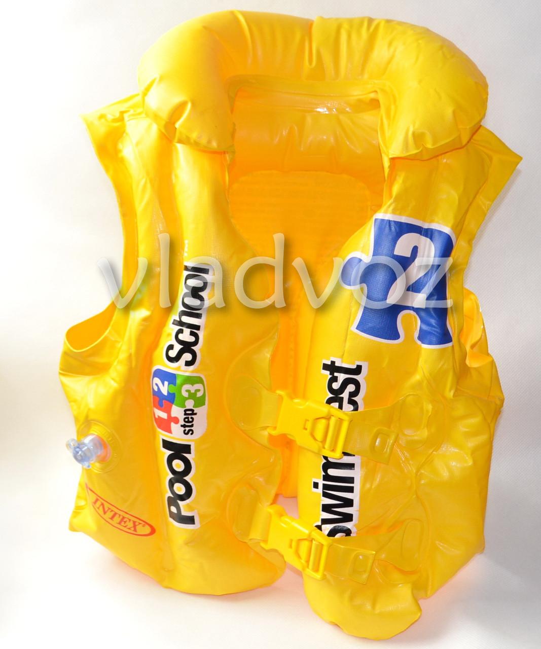 Детский надувной жилет для плавания intex 58660 от 3-6 лет