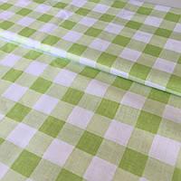 Поплин  в салатовую клетку 2,2 см, фото 1