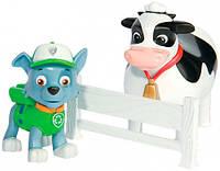 Набор из щенка-спасателя и животного: Рокки и Корова, Щенячий патруль, (7 см), PAW Patrol, Rocky (SM16659-2), фото 1