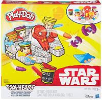Тысячелетний Сокол, набор пластилина, Звездные войны, Play Doh (B0002)