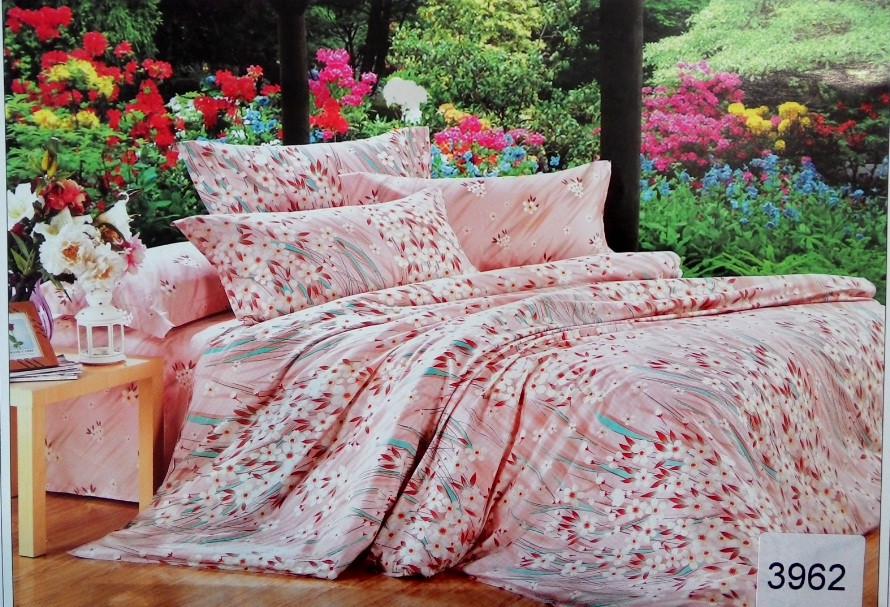 Сатиновое постельное белье семейное ELWAY 3962