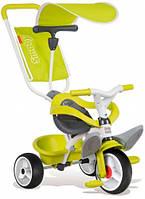 Детский велосипед с козырьком и багажником (зеленый), Smoby Toys (444192)