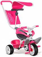 Детский велосипед с козырьком и багажником (розовый), Smoby Toys (444207)