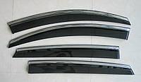 Дефлекторы окон ветровики на MERCEDES-BENZ MERCEDES Мерседес GLE Coupe ASP с молдингом нержавеющей стали