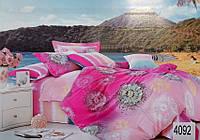 Сатиновое постельное белье семейное ELWAY 4092