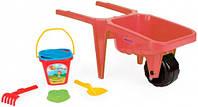 Візок для піску Гігант з набором до піску, красн. (74810-2)