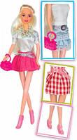 Модный микс, набор с куклой 28см., блондинка в юбке, Ася (35079)
