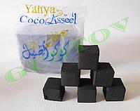 Уголь для кальяна Yahya Coco Asseel (72 куб) - 1 кг