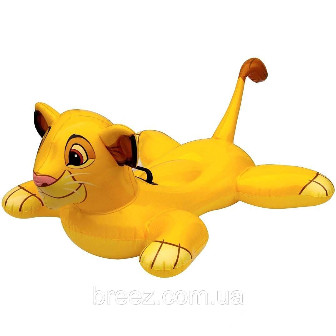 Детский надувной плотик для плавания Intex 58520 Король Лев 119 см