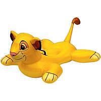 Детский надувной плотик для плавания Intex 58520 Король Лев 119 см , фото 1