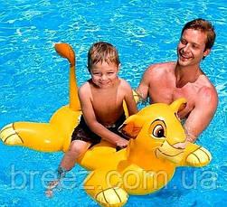 Детский надувной плотик для плавания Intex 58520 Король Лев 119 см , фото 2