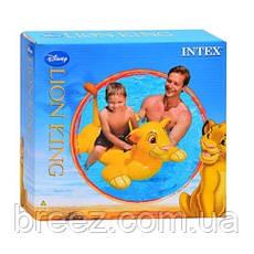 Детский надувной плотик для плавания Intex 58520 Король Лев 119 см , фото 3