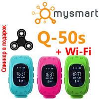 Q50s улучшенные умные детские часы с GPS с Wi-Fi модулем. Лучшая цена/качество