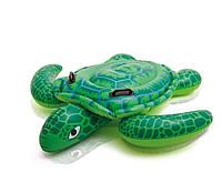 Детский надувной плотик для плавания Intex 57524 Черепаха 119 см , фото 1