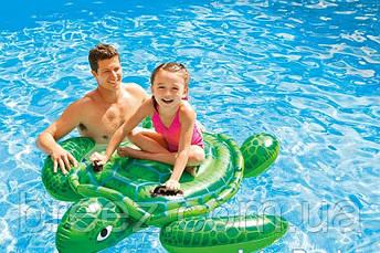 Детский надувной плотик для плавания Intex 57524 Черепаха 119 см , фото 2